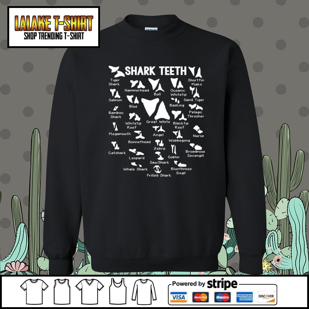 Shark Teeth tiger shark hammerhead bull oceanic whitetip s Sweater